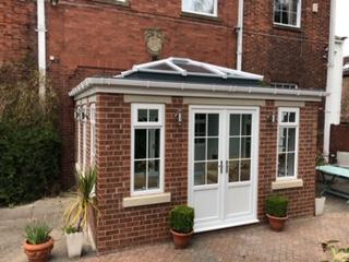Small brick conservatory