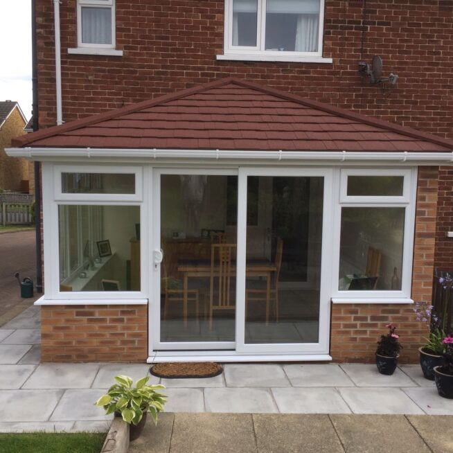 Conservatory Install with sliding doors
