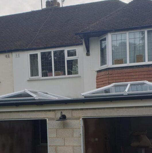 Twin orangery roof