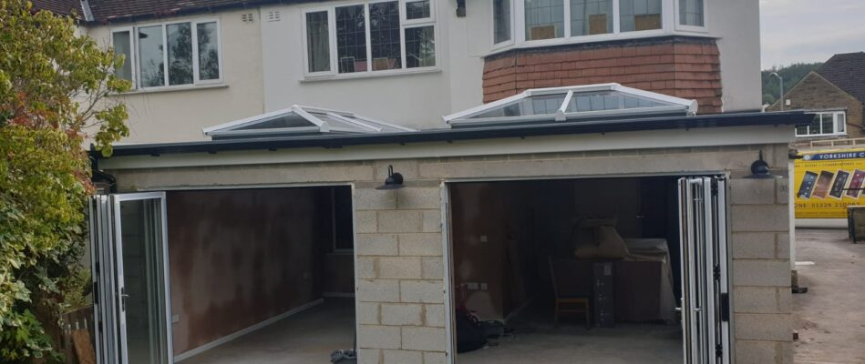 Twin orangery roof install