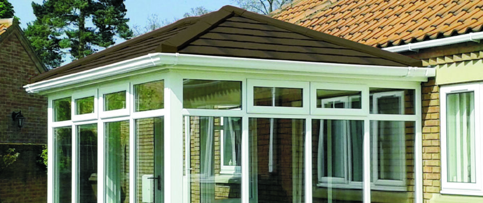Conservatory attached to a bungalow