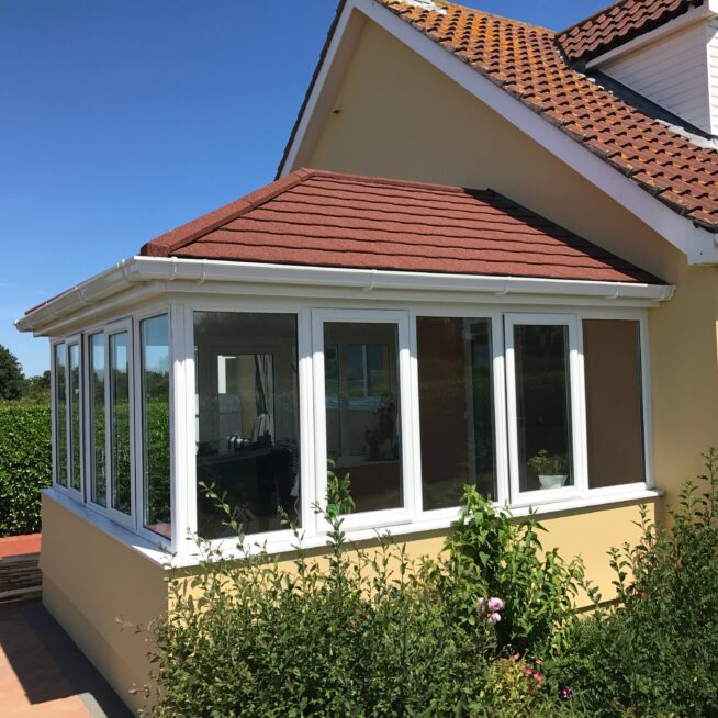 Conservatory matching the exterior of the house
